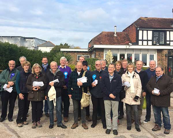 Campaigning across Wealden
