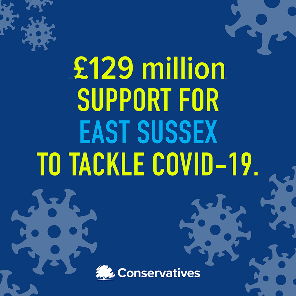 £129 million of Covid support for East Sussex welcomed by Wealden's MP, Nus Ghani