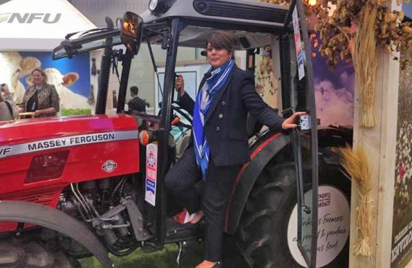 Nus on an NFU tractor