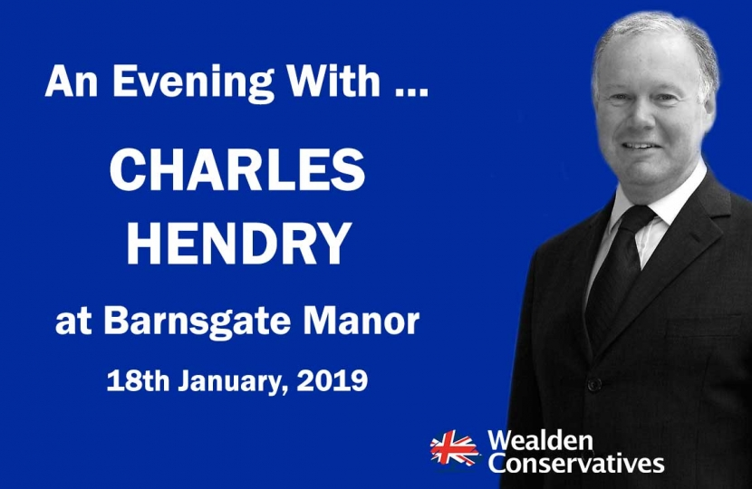 Supper with Charles Hendry