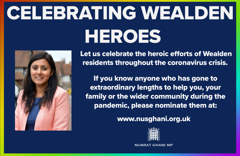 many people in Wealden who have made personal sacrifices to help others