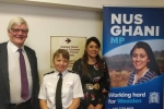 Nus with Sussex Police Chief Inspector Anita Turner and Wealden District Council Leader Cllr Bob Standley