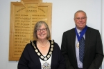 Cllr Pam Doodes and Cllr Ron Reed.
