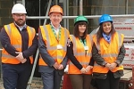 Nick Kehoe, Site Manager (Westridge Construction); Rob Woolley, CEO Hospice In The Weald; Holly Cowen, Head Nurse for the Cottage Hospice; and, Nusrat Ghani MP.
