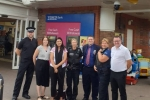 Nus Ghani MP met up with members of Uckfield Police to discuss crimes affecting children